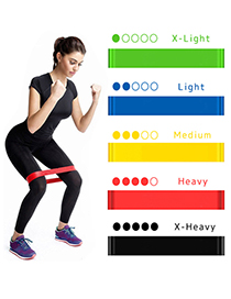 Fashion Black Rally Loop Yoga Latex Resistance Band