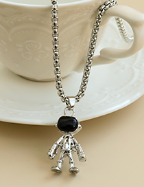 Fashion Silver Alloy Chain Space Puppet Necklace
