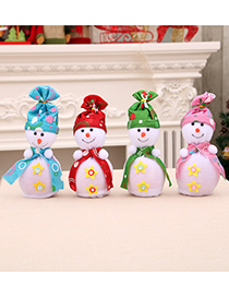 Fashion Green Christmas Snowman Apple Box