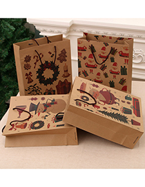 Fashion Medium [26*10*32cm] No. 4 Christmas Hand Kraft Paper Bag