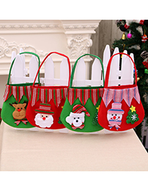 Fashion Bear Christmas Supplies Brushed Cloth Apple Tote Bag
