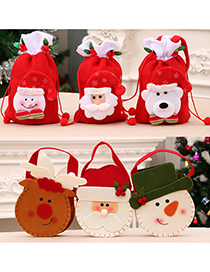 Fashion Doll Apple Bag [green] Christmas Closing Apple Tote Bag