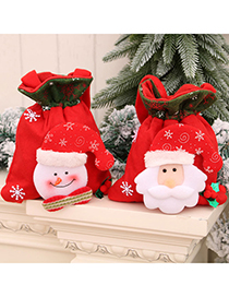 Fashion Bear Christmas Childrens Three-dimensional Printing Portable Storage Pocket