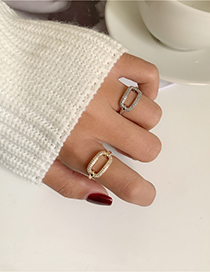 Fashion Silver Chain Full Diamond And Micro Inlaid Zircon Ring