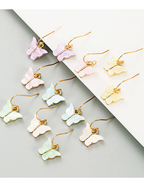 Fashion Off-white Butterfly Acrylic Alloy Earrings