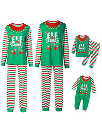 Fashion Childrens Christmas Letter Print Home Wear Pajamas Parent-child Wear