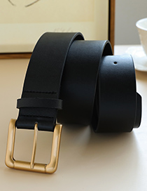 Fashion Black Alloy Pu Black Belt