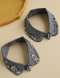 Fashion Section 4 Fabric Alloy False Collar With Diamonds
