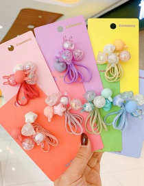 Fashion Fluorescent Yellow Bunny Rabbit Resin Crystal Childrens Hair Rope