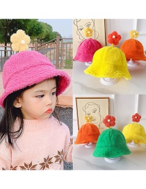 Fashion Pink Flower Hat 2-6 Years Old One Size Subject To Actual Head Circumference Lamb Hair Flower Children Hat