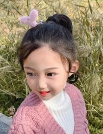 Fashion Orange Grass [hairpin] Small Grass Plush Alloy Childrens Hairpin