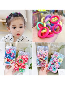 Fashion 100 Colorful Bamboo Joints To Send Storage Bag Towel Roll Contrast Color Seamless Childrens Hair Rope