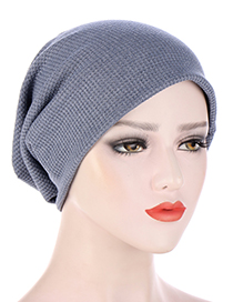 Fashion Blue Gray Dot Lattice Solid Color Toe Cap