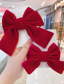 Fashion A Bow Hair Clip-large Bowknot Fabric Alloy Children Hairpin