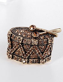 Fashion Bronze Alloy Diamond Brooch