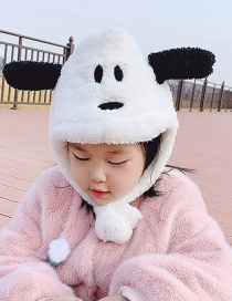 Fashion Gray Puppy Reference Age 6 Months-5 Years Old Puppy And Plush Childrens Woolen Hat