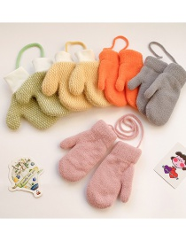 Fashion Small [orange] 2-10 Years Old Recommended 1-4 Years Old Recommended Plush Checkered Plush Baby Gloves