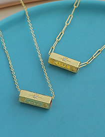 Fashion Gold Color Copper Inlaid Zircon Thick Chain Letter Love Necklace