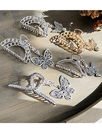 Fashion Butterfly Silver Butterfly Love Pendant Hollow Alloy Clamp
