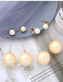 Fashion Earrings Chain Tassel Pearl Round Resin Earrings