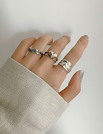 Fashion Chain Clause Love Fold Chain Alloy Ring