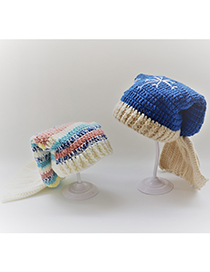 Fashion Color Mermaid Yarn Crochet Kids Hat