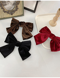 Fashion Hairpin Brown Horsetail Acrylic Bow Hairpin Hair Rope