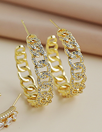 Fashion Gold Color Copper Inlaid Zircon Drop Earrings