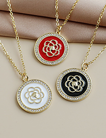 Fashion White Copper Inlaid Zircon Flower Necklace
