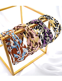Fashion Yellow Printed Letters Cross-knotted Headband