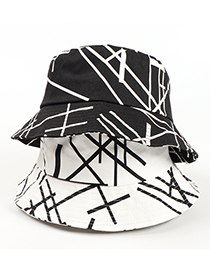 Fashion White Letter Line Print Fisherman Hat