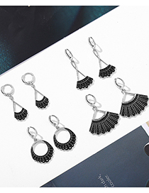 Fashion Style One Justice Ginsberg Dripping Alloy Earrings