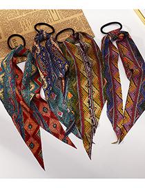 Fashion Red Leopard Ribbon Hair Tie