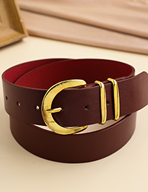 Fashion Red Alloy Pu Red Belt