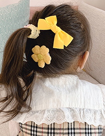 Fashion Blue Bow Childrens Bow Hairpin