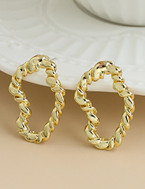 Fashion Gold Color Alloy Hollow Geometric Shape Earrings