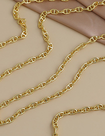 Fashion Gold Color Copper Inlaid Zircon Thick Chain Necklace