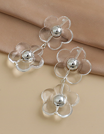 Fashion Transparent Resin Transparent Flower Earrings