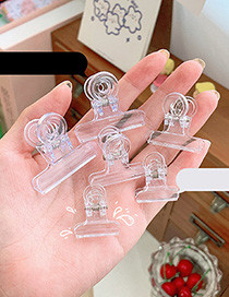 Fashion 50mm Transparent Transparent Multifunctional Dovetail Clip For Students