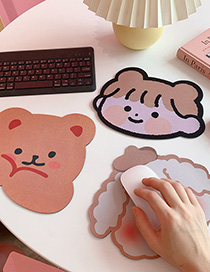 Fashion Smiley Rabbit Little Bear Thickened Small Computer Non-slip Mouse Pad