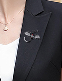 Fashion Silver Color Alloy Dripping Animal Brooch