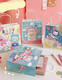 Fashion Surprise Bear Bear Print Portable Gift Packaging Bag