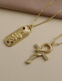 Fashion Golden Copper Inlaid Zircon Chain Serpentine Necklace