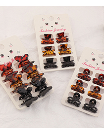 Fashion Bow 2 Resin Butterfly Hit Color Clip Set