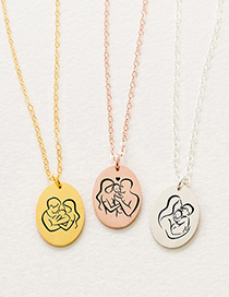 Fashion Steel Color Jt-181 Geometric Stainless Steel Pendant 14k Gold Plated Necklace