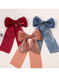 Fashion Snow Tooth Ribbon Double-bow Bright Yarn Hairpin