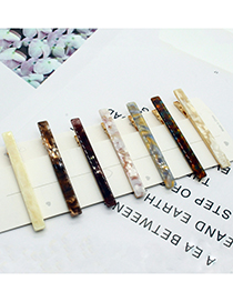 Fashion Transparent Brown Marble Face Geometric Alloy Hairpin