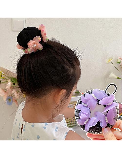 Fashion 9#color Fabric Hair Net Children's Butterfly Net Bag Hair Net Plate Hair Device