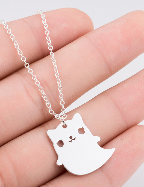 Fashion Gold Cartoon Ghost Necklace