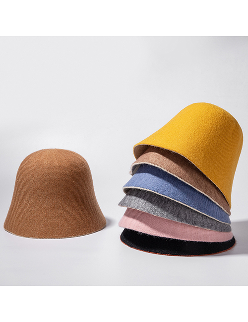 Fashion Pink Cashmere Double-sided Fisherman Hat
